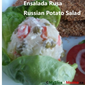 russian salad with logo