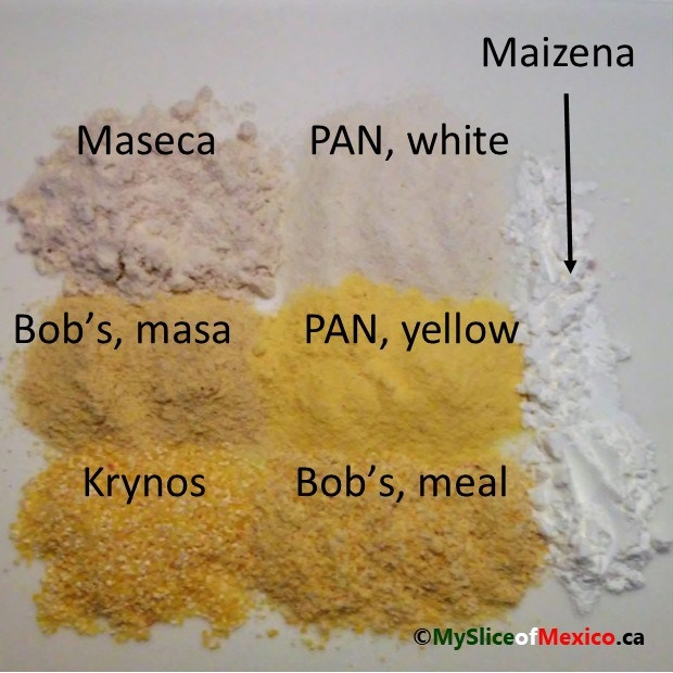 corn flour samples My Slice of Mexico