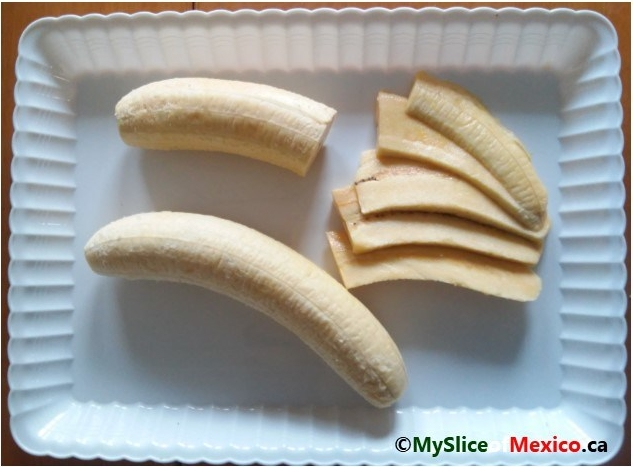 peeled and sliced plantain My Slice of Mexico