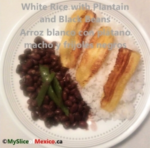 rice, plantain and black beans cover