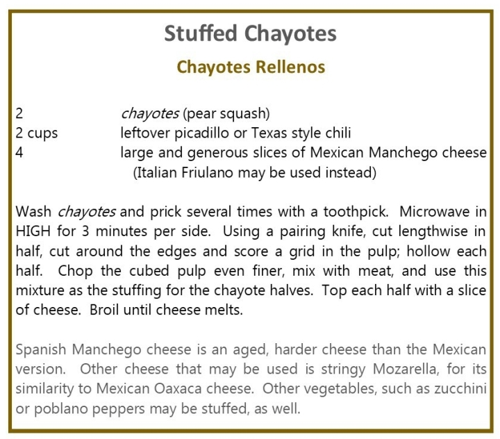 Stuffed Chayotes