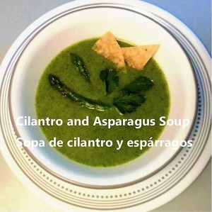 Cilantro and asparagus soup My slice of Mexico