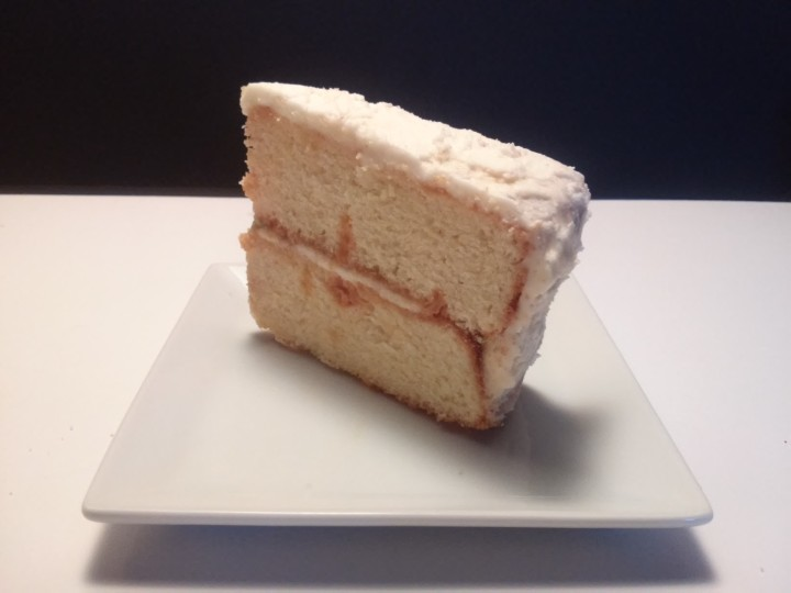 slice of tres leches cake