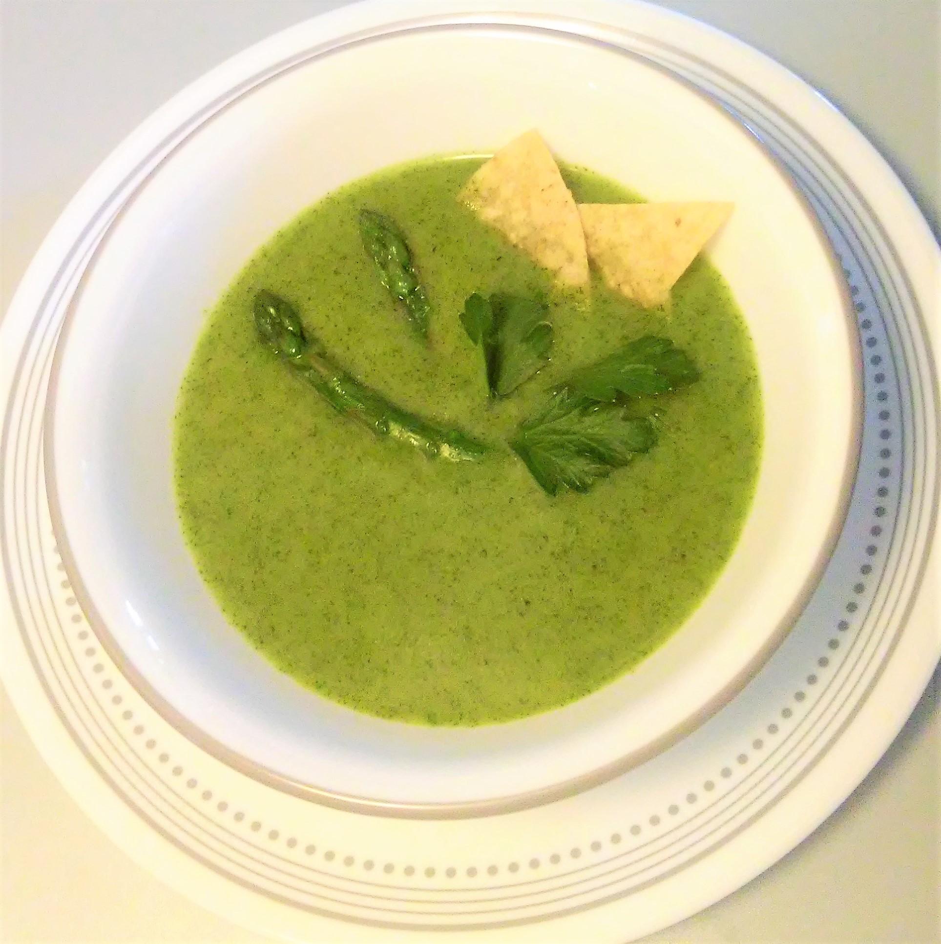 sopa de cilantro y esparragos My Slice of Mexico