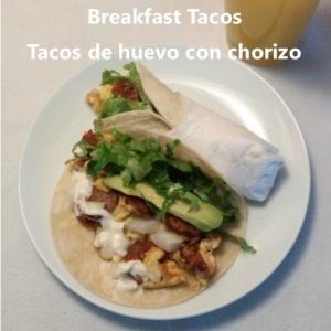 breakfast taco egg and chorizo