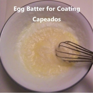 egg batter for coating (capeados)