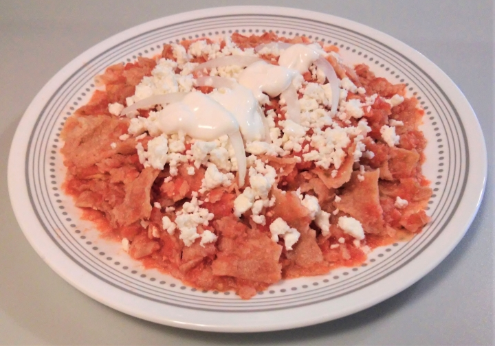 medium crisp chilaquiles