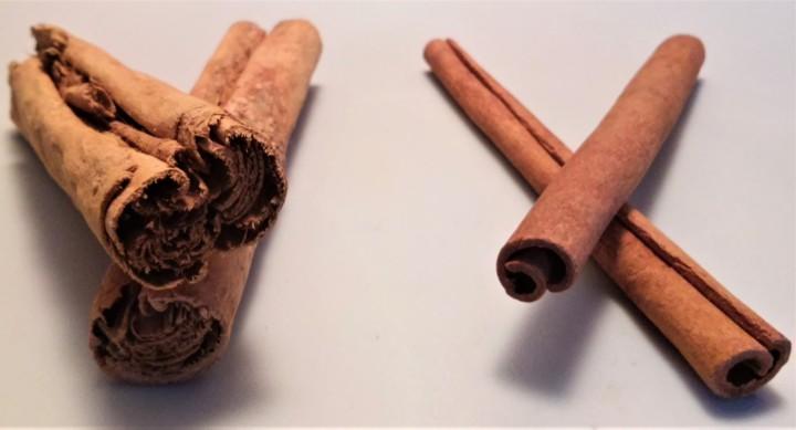 cinnamon Ceylon and cassia