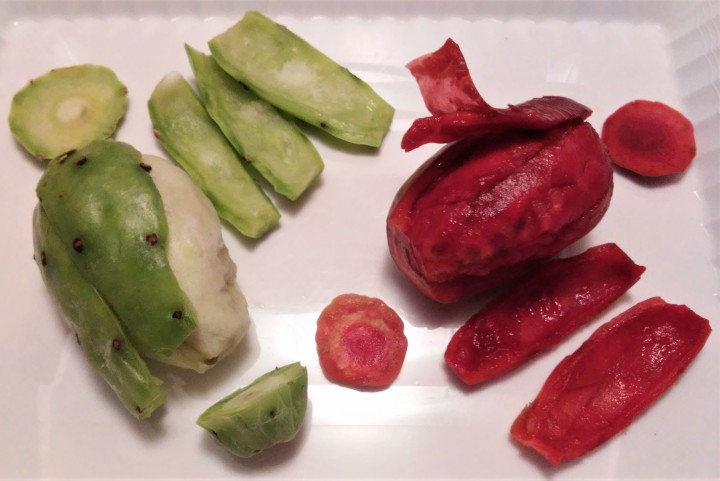 how to peel prickly pears