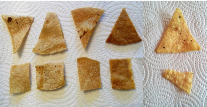 crisped tortilla chips different methods