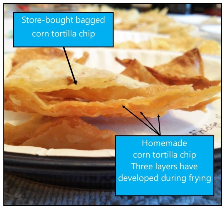 store bought tortilla chip profile vs homemade