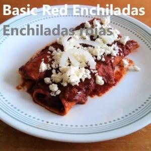 Basic red enchiladas recipe cover