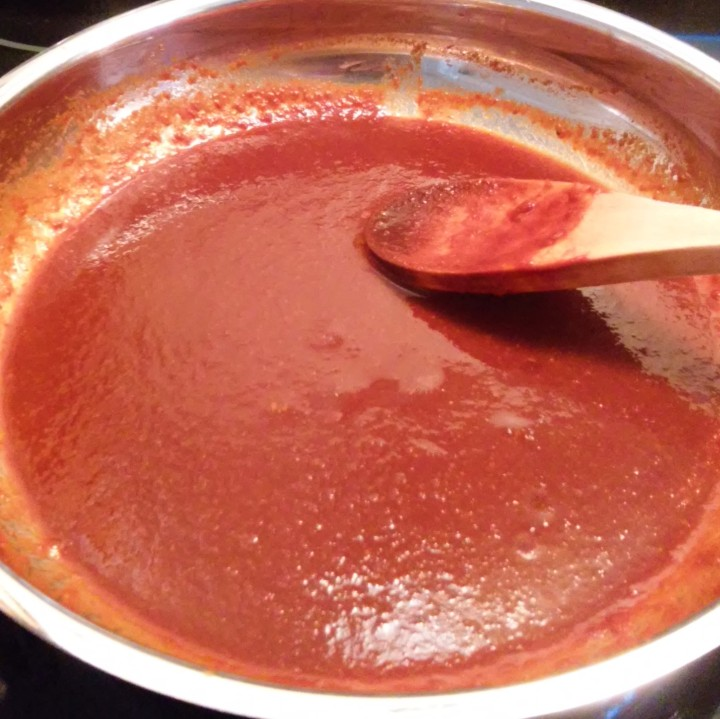 diluted guajillo sauce