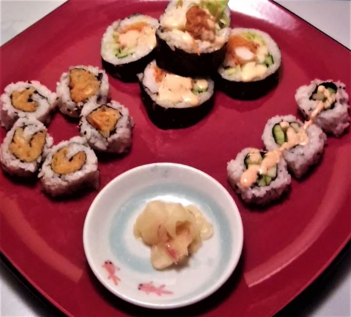 Gari and sushi