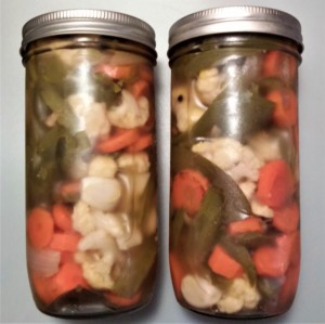pickled jalapenos with vegetables