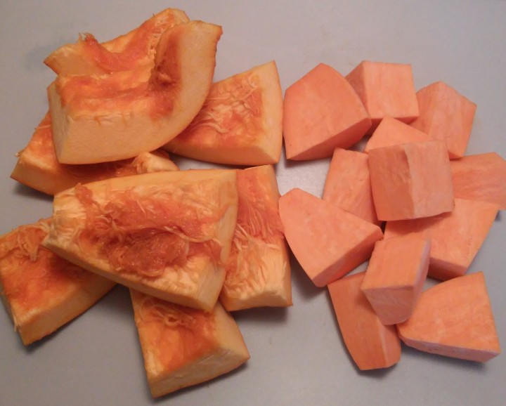 pumpkin and sweet potato