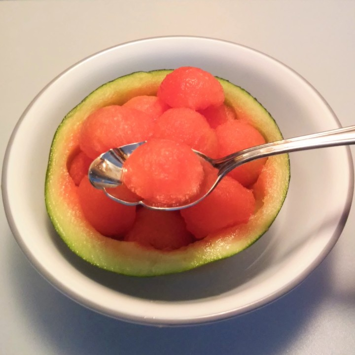 spoonful of watermelon