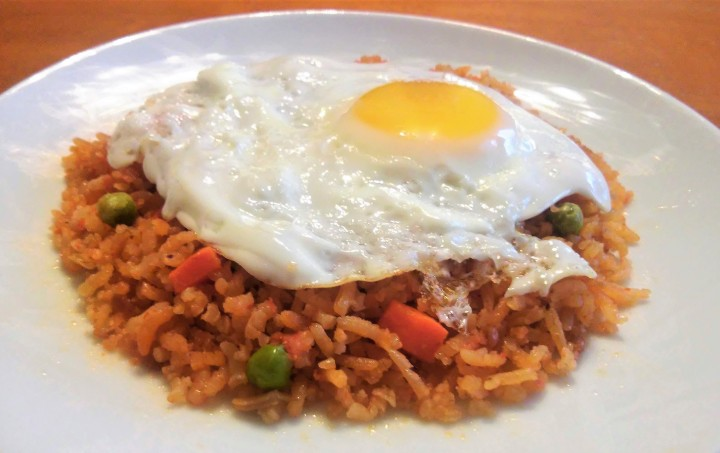 017 rice with fried egg on top