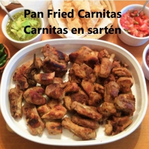 pan fried carnitas recipe cover
