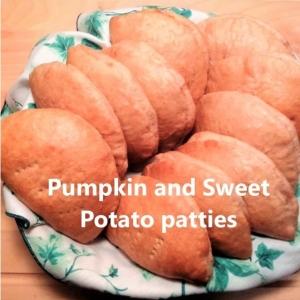 pumpkin and sweet potato patties