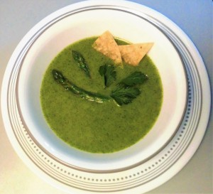 Cilantro and asparagus soup