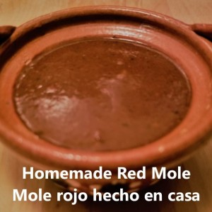 homemade red mole cover
