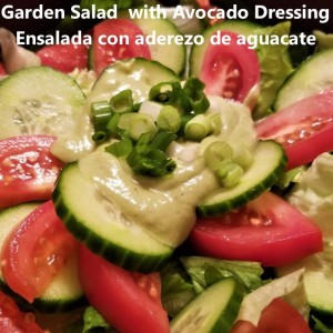 salad with avocado dressing cover