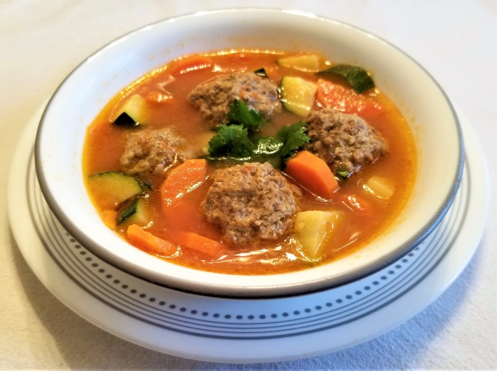 Meatballs in Broth with vegetables
