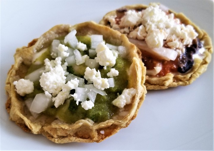 Picaditas – Corn Dough Appetizers  for Mexico's FlagDay