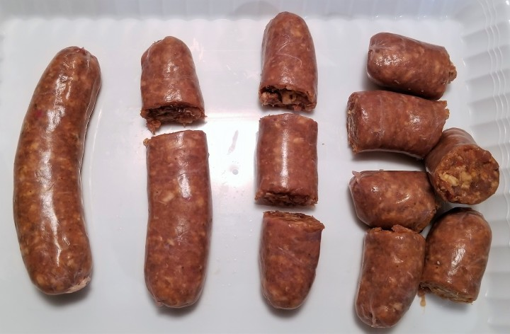 002 slice sausages