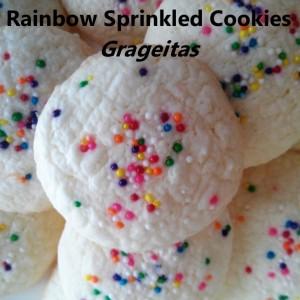 Rainbow Sprinkled Cookies