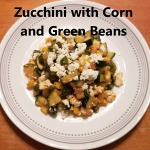 Zucchini with corn and green beans