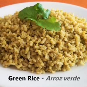 Green rice - Arroz verde