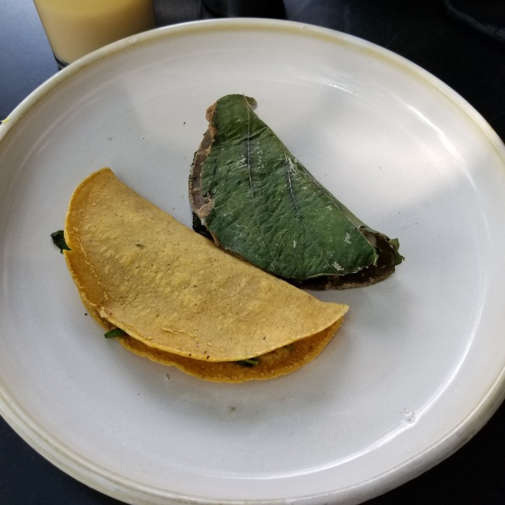 7681e11f8b And tacos and machine-made tortillas from Amarillo Mixteco (yellow corn