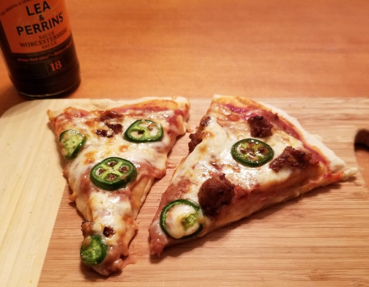 004 Sliced Mexican style pizza