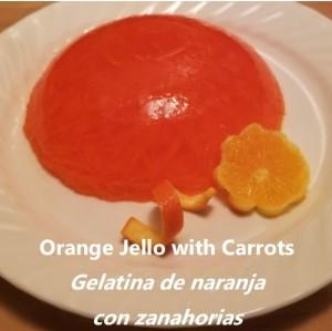 Orange Jello with Carrots