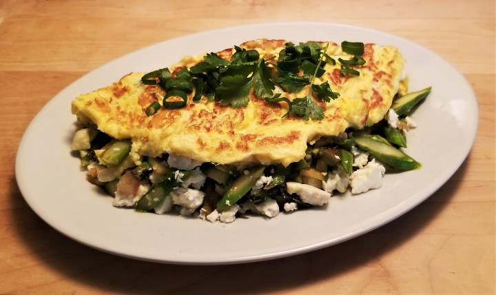 Veggie Omelette with a Mexican Touch