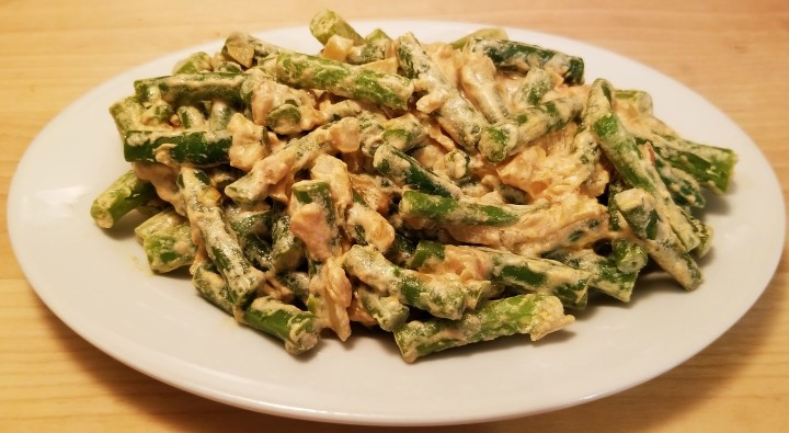 Green Beans in Creamy Chipotle Sauce
