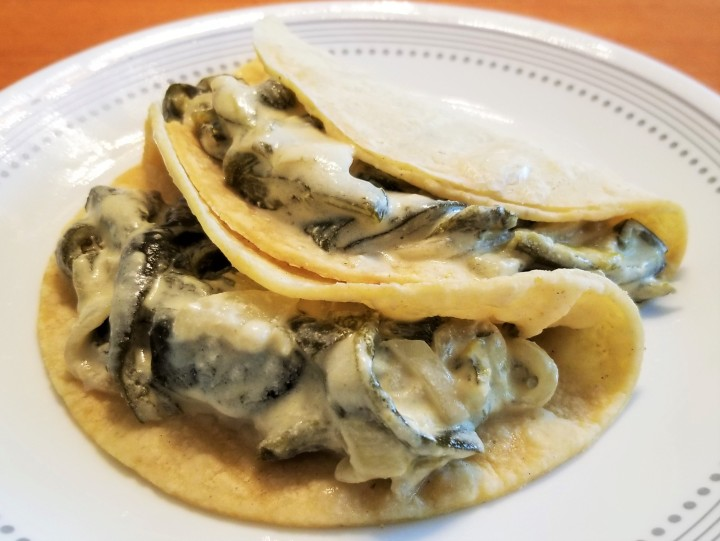 Poblano Strips with Cream – Rajas con Crema