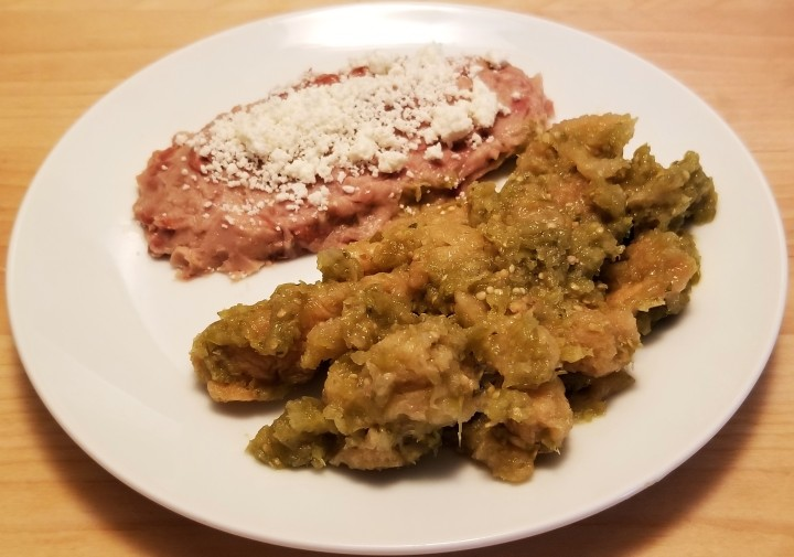 Pork Rind in Green Sauce – Chicharrón en salsa verde