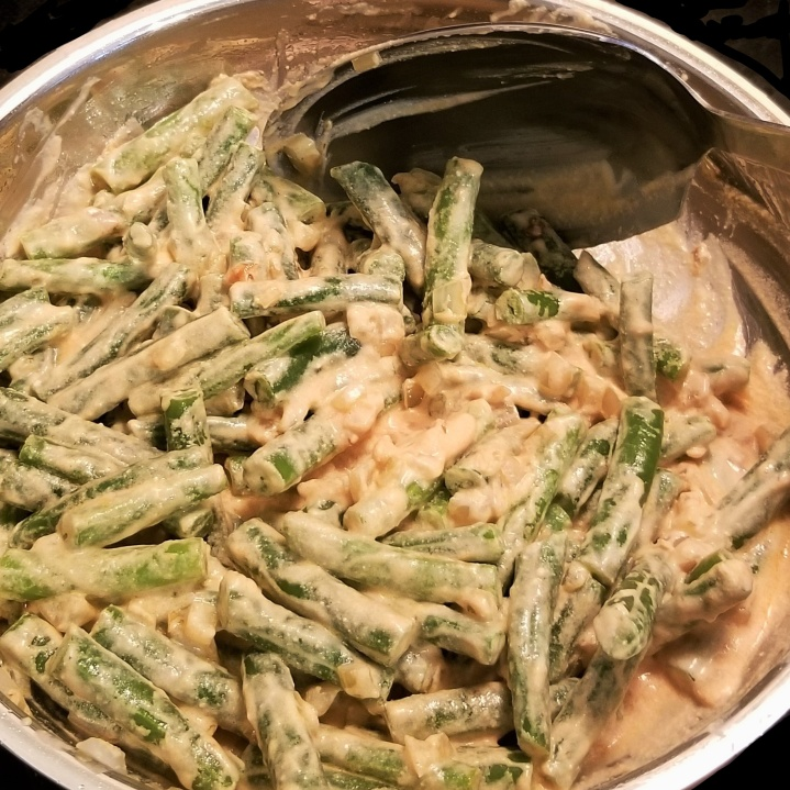 008 green beans in creamy chipotle