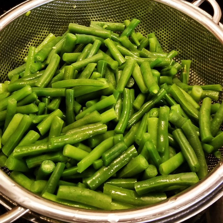 20190716_rinsed and drained blanched green beans
