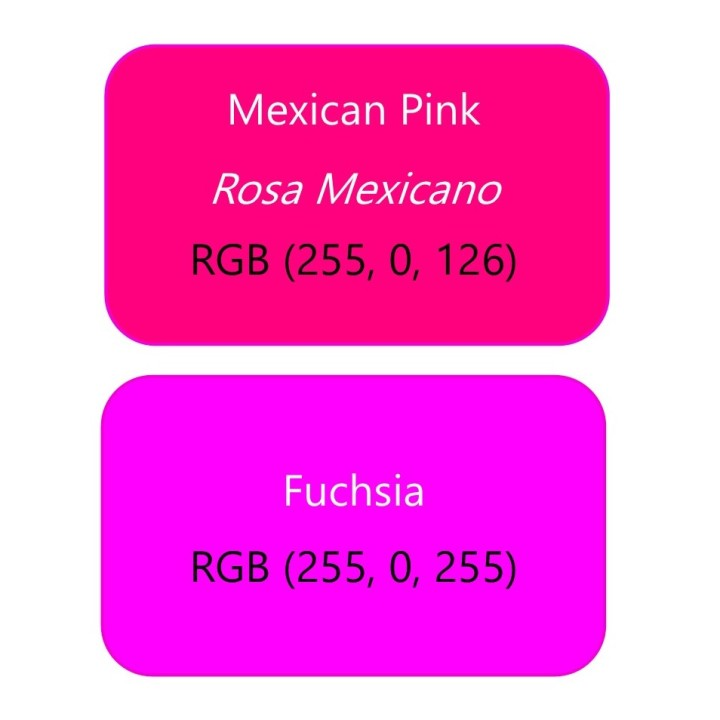 rosa mexicano vs fuchsia