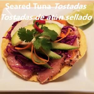 seared tuna tostada