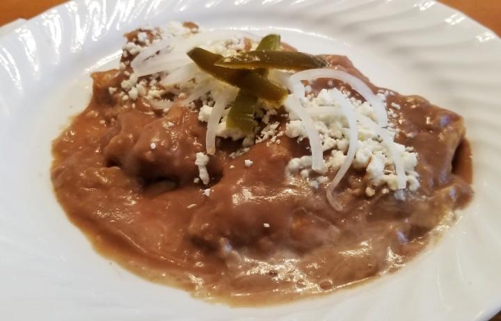 Enfrijoladas – Tortillas in BeanSauce