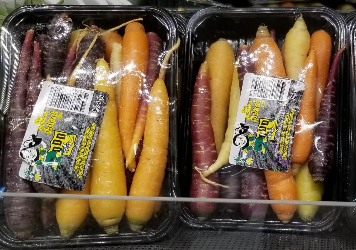 004 rainbow carrots at the supermarket