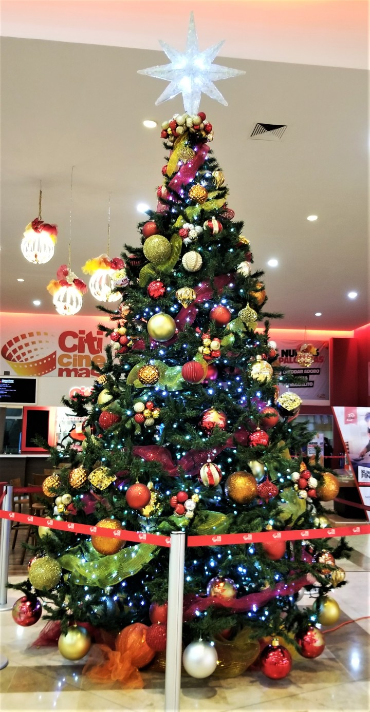 Christmas tree at movie theatre