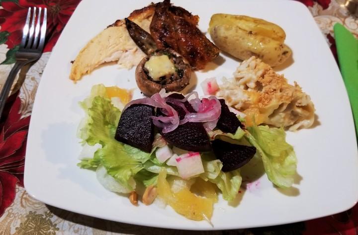Pre-Christmas Dinner Plate