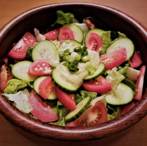 salad with avocado dressing square