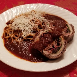 Spaghetti and Braciole square